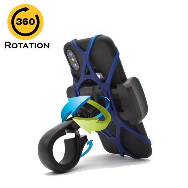 Suport Telefon pentru Bicicleta, 360 Grade Rotatie, Protectie Anti-Alunecare