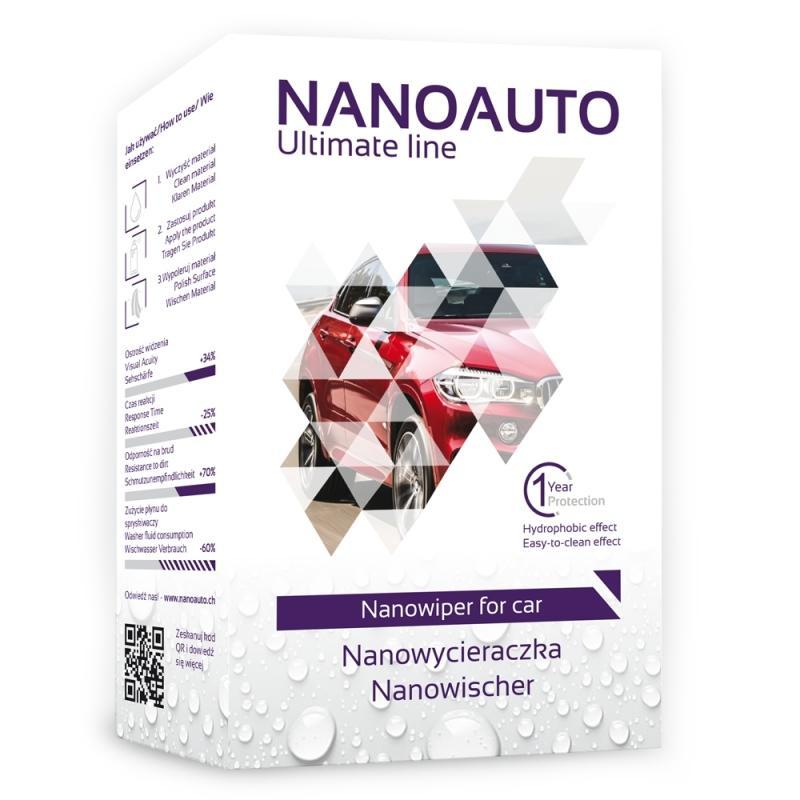 Tratament hidrofob (anti-ploaie) geamuri Nanowiper, NanoAuto
